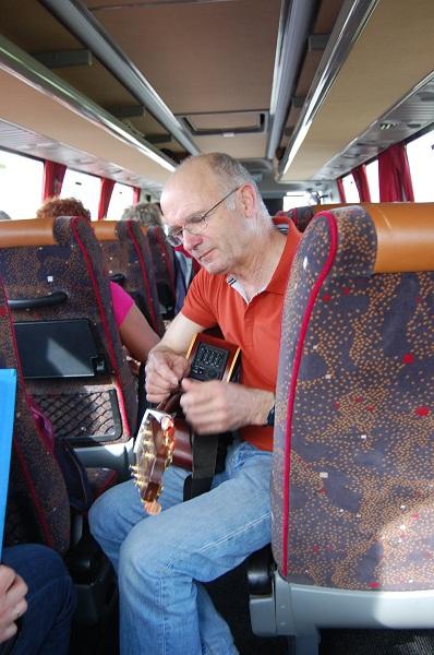 Concert de Patrick sur la route du retour