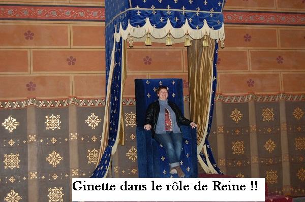 Ginette sur le trône